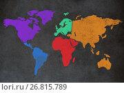Купить «Composite image of composite image of colorful map», иллюстрация № 26815789 (c) Wavebreak Media / Фотобанк Лори