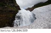 Водопад в горном массиве Вачкажец, Камчатский край, видеоролик № 26844509, снято 27 июля 2017 г. (c) А. А. Пирагис / Фотобанк Лори