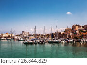 Старая гавань в Ираклионе, Крит, Греция (2017 год). Стоковое фото, фотограф Наталья Волкова / Фотобанк Лори