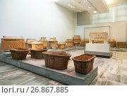 Купить «Глиняные саркофаги из Агиа Триады в археологическом музее в Ираклионе, Крит, Греция», фото № 26867885, снято 5 июня 2017 г. (c) Наталья Волкова / Фотобанк Лори
