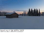 Купить «House in the village in winter», фото № 26873237, снято 5 января 2017 г. (c) Михаил Кочиев / Фотобанк Лори