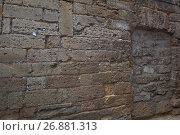Купить «Стена Плача у синагоги Егия Капай в старом городе Евпатории, Крым», фото № 26881313, снято 21 июля 2017 г. (c) Николай Мухорин / Фотобанк Лори