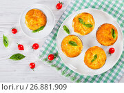 Купить «Mushroom, chicken and cheese gratin in Mini Baking molds», фото № 26881909, снято 19 февраля 2019 г. (c) Oksana Zh / Фотобанк Лори