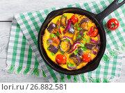Купить «Single Serve Paleo Breakfast Skillet - scrambled eggs and vegeta», фото № 26882581, снято 16 августа 2016 г. (c) Oksana Zh / Фотобанк Лори