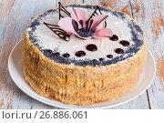 Купить «luscious poppy seeds, walnut and raisins sponge cake», фото № 26886061, снято 22 января 2019 г. (c) Oksana Zh / Фотобанк Лори