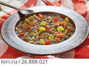 Купить «kutya or Sweet Wheat Berry Pudding traditional Christmas dish», фото № 26888021, снято 18 августа 2019 г. (c) Oksana Zh / Фотобанк Лори