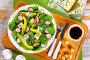 Купить «low carb delicious salad on white platter», фото № 26888629, снято 17 декабря 2018 г. (c) Oksana Zh / Фотобанк Лори