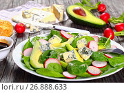 Купить «low carb delicious salad on a platter», фото № 26888633, снято 6 июля 2020 г. (c) Oksana Zh / Фотобанк Лори