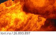 Купить «Пламя нефтяного факела», видеоролик № 26893897, снято 7 сентября 2017 г. (c) Икан Леонид / Фотобанк Лори