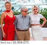Купить «69th Cannes Film Festival 2016 - 'Cafe Society' - Photocall Featuring: Kristen Stewart, Woody Allen, Blake Lively Where: Cannes, France When: 11 May 2016 Credit: WENN.com», фото № 26904073, снято 11 мая 2016 г. (c) age Fotostock / Фотобанк Лори