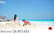 Купить «Young beautiful woman on the beach. Happy girl enjoy her tropical vacation exotic island», видеоролик № 26907653, снято 14 августа 2017 г. (c) Дмитрий Травников / Фотобанк Лори