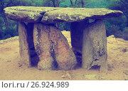 Купить «Pedra Gentil dolmen», фото № 26924989, снято 9 октября 2016 г. (c) Яков Филимонов / Фотобанк Лори