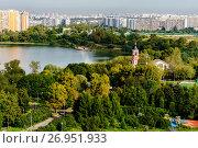 Москва, Борисовский пруд и парк в пойме реки Городня (2017 год). Стоковое фото, фотограф glokaya_kuzdra / Фотобанк Лори