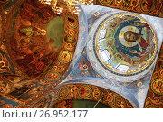 Купить «Мозаика купола Спаса-на-Крови (храм Воскресения Христова) в Санкт-Петербурге», фото № 26952177, снято 28 февраля 2013 г. (c) Александр Гаценко / Фотобанк Лори