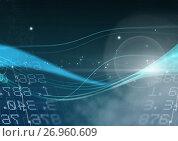 Купить «Abstract transition with number figures», иллюстрация № 26960609 (c) Wavebreak Media / Фотобанк Лори