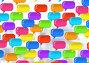 Group of Shiny chat bubbles floating in room, иллюстрация № 26960713 (c) Wavebreak Media / Фотобанк Лори