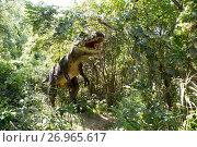 """Купить «Парк с динозаврами. """"Солнечный остров"""". Краснодар», фото № 26965617, снято 17 июля 2016 г. (c) Марина Володько / Фотобанк Лори"""