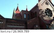 Купить «Church of Saints Simon and Helena, Minsk, Belarus», видеоролик № 26969789, снято 7 июля 2017 г. (c) BestPhotoStudio / Фотобанк Лори