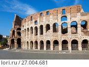 Купить «Вид на Колизей, Рим, Италия», фото № 27004681, снято 9 сентября 2017 г. (c) Наталья Волкова / Фотобанк Лори