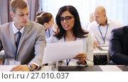 Купить «business team at international conference», видеоролик № 27010037, снято 27 февраля 2020 г. (c) Syda Productions / Фотобанк Лори
