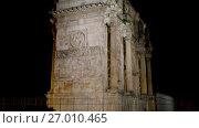 Купить «Arch of Constantine is triumphal arch in Rome», видеоролик № 27010465, снято 10 августа 2017 г. (c) BestPhotoStudio / Фотобанк Лори