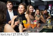 Купить «Females and males celebrating corporate», фото № 27014725, снято 20 апреля 2017 г. (c) Яков Филимонов / Фотобанк Лори