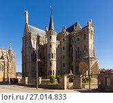 Episcopal Palace of Astorga (2015 год). Стоковое фото, фотограф Яков Филимонов / Фотобанк Лори