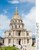 Купить «Собор Дома Инвалидов. Солнечный день. Париж. Франция», фото № 27016477, снято 16 сентября 2017 г. (c) E. O. / Фотобанк Лори
