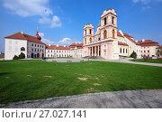 Купить «Бенедиктинский монастырь Гёттвайг (Stift Göttweig) близ города Кремз. Нижняя Австрия.», фото № 27027141, снято 3 апреля 2017 г. (c) Bala-Kate / Фотобанк Лори