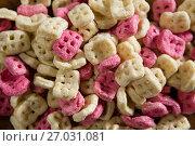 Купить «Close -up of honeycomb cereals», фото № 27031081, снято 13 июня 2017 г. (c) Wavebreak Media / Фотобанк Лори