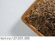 Cereal bran sticks in wooden bowl. Стоковое фото, агентство Wavebreak Media / Фотобанк Лори