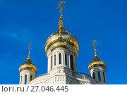 Купить «Dome of Church in honor of Resurrection of Christ, New Martyrs and Confessors in Moscow. Russia», фото № 27046445, снято 24 июля 2017 г. (c) Володина Ольга / Фотобанк Лори