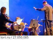 "Купить «Orchestra Concert ""Other Band"" plays ""Depeche Mode""», фото № 27050085, снято 18 января 2019 г. (c) Евгений Ткачёв / Фотобанк Лори"