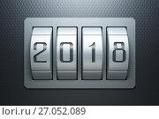 Купить «new year 2018, 3d rendering», иллюстрация № 27052089 (c) Дмитрий Кутлаев / Фотобанк Лори