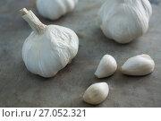 Купить «Close-up of garlic», фото № 27052321, снято 5 июня 2017 г. (c) Wavebreak Media / Фотобанк Лори