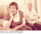 Купить «Aged couple arguing», фото № 27075421, снято 29 февраля 2020 г. (c) Яков Филимонов / Фотобанк Лори