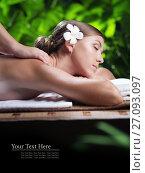 Купить «Portrait of young beautiful woman in spa environment», фото № 27093097, снято 25 августа 2019 г. (c) Дмитрий Эрслер / Фотобанк Лори