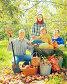 Happy family in garden, фото № 27093625, снято 12 сентября 2012 г. (c) Яков Филимонов / Фотобанк Лори