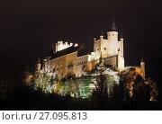 Купить «midnight view of Alcazar of Segovia», фото № 27095813, снято 16 ноября 2014 г. (c) Яков Филимонов / Фотобанк Лори