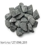 Купить «Top view of crushed granite», фото № 27096201, снято 25 августа 2017 г. (c) Антон Стариков / Фотобанк Лори