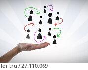 Купить «Hand-drawn people profile icons with open hand», фото № 27110069, снято 27 мая 2018 г. (c) Wavebreak Media / Фотобанк Лори