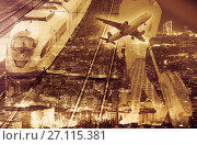 Купить «Figure of traveler against background», фото № 27115381, снято 10 января 2016 г. (c) Яков Филимонов / Фотобанк Лори