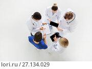 Купить «doctors with cardiogram and and tablet pc», фото № 27134029, снято 4 апреля 2017 г. (c) Syda Productions / Фотобанк Лори