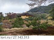 Купить «Китайский феникс на крыше Золотого павильона (Kinkaku-ji). Город Киото, район Кита, Япония», фото № 27143313, снято 12 апреля 2013 г. (c) Кекяляйнен Андрей / Фотобанк Лори