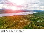Купить «Northern landscape. Endless forests.», фото № 27151077, снято 13 июля 2017 г. (c) Евгений Ткачёв / Фотобанк Лори