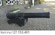 Купить «Пушка 18 века. Таганрог», фото № 27153401, снято 29 сентября 2017 г. (c) Кургузкин Константин Владимирович / Фотобанк Лори