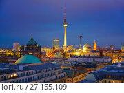 Купить «Berlin aerial view, Germany», фото № 27155109, снято 20 марта 2019 г. (c) Sergey Borisov / Фотобанк Лори