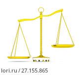 Купить «Balance scale over white background», иллюстрация № 27155865 (c) Кирилл Черезов / Фотобанк Лори