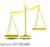 Купить «Balance scale over white background», иллюстрация № 27155869 (c) Кирилл Черезов / Фотобанк Лори