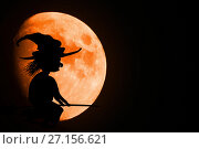 Moon and Halloween. Стоковое фото, фотограф Галина Голубь / Фотобанк Лори